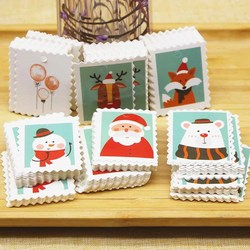 Lovely penguin animals gifts label tag Merry christmas paper tag 5x4cm  White wedding favors bakery decoration paper hang tag