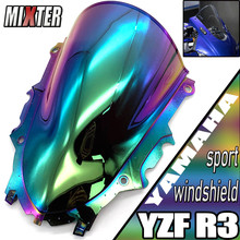 Motorcycle Sport Racing Double Bubble Windshield WindScreen Visor Viser Deflector For YZF R3 V2 2019 2020 YZF R25 19 20 R3 R25