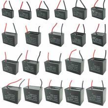Cbb61 450v 1uf terminal 6uf terminal ventilador de teto motor correndo capacitor retângulo