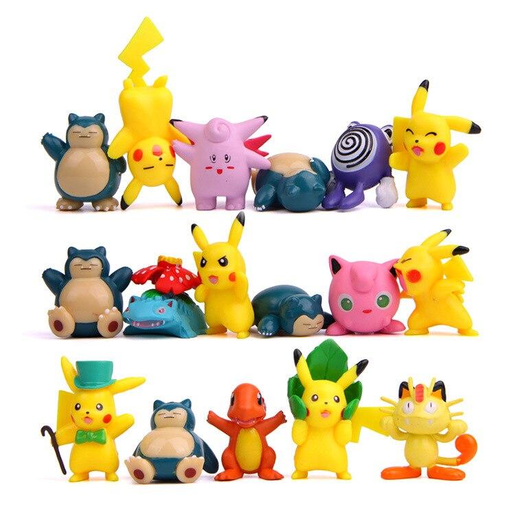 Pokemon Pikachu Charmeleon Ivysaur Venusaur Mewtwo Anime Action Figures Model Toys For Children Kid Collection Gift TAKARA TOMY