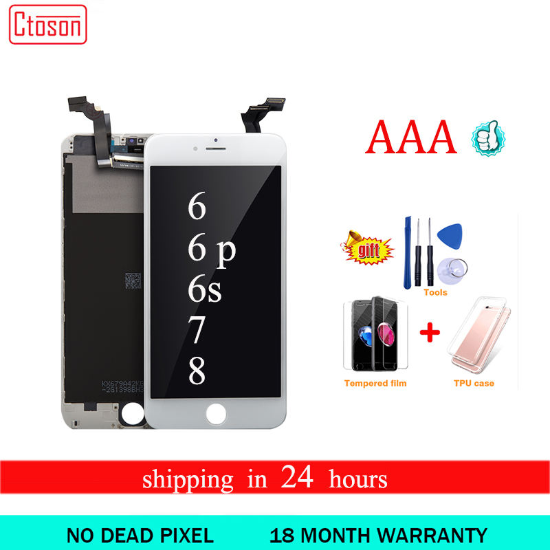 Ctoson Display For <font><b>iPhone</b></font> 6 <font><b>6S</b></font> plus lCD Screen 3D Touch Digitizer for X XS MAX XR Pantalla For Apple <font><b>iphone</b></font> 7 8 plus <font><b>Ecran</b></font> image