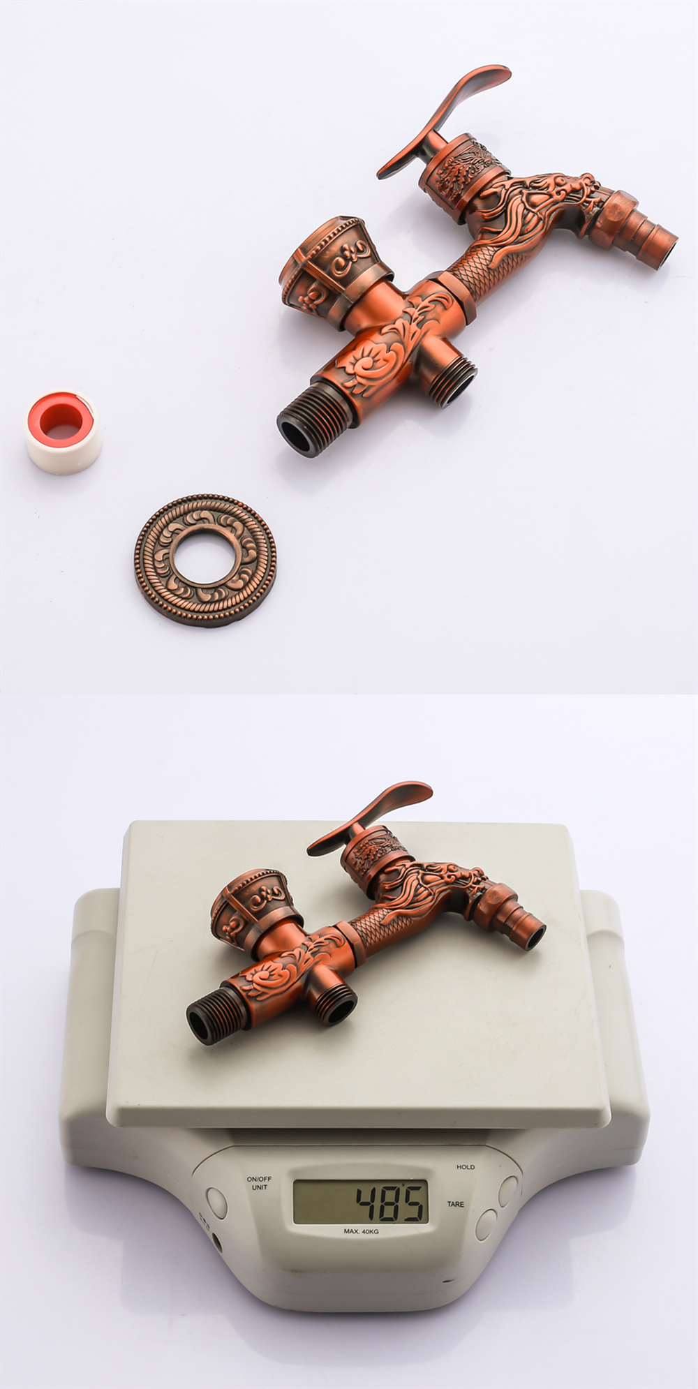 Doodii Carved Wall Mount Zinc Alloy Antique Bibcock Garden Wash Basin Faucet Decorative Outdoor Garden Mop Taps Torneira parede11