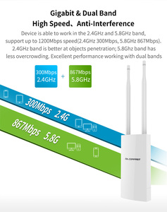 Image 4 - Comfast 300Mbps 1200Mbps 무선 Wifi 중계기 옥외 2.4 & 5.8Ghz 고성능 옥외 방수 증량제 Wifi 대패 안테나 AP