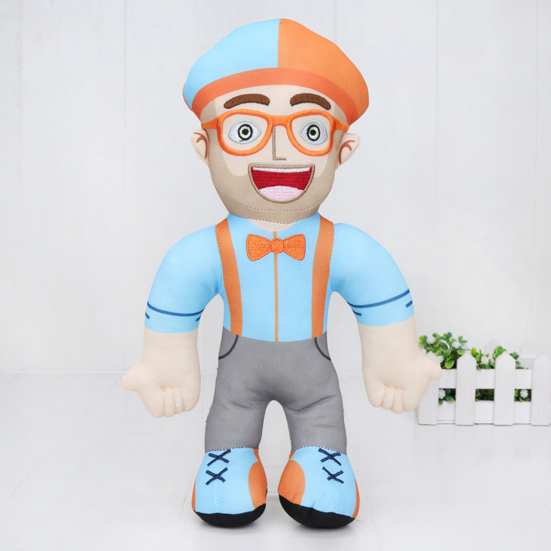32cm Anime Blippi Plush Doll Soft Stuffed Blippi Toy For Kids Birthday Gift