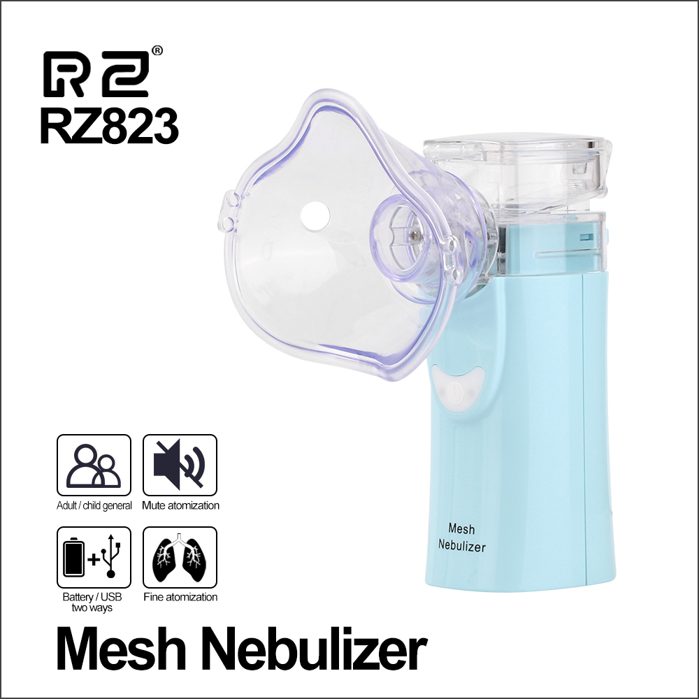 Image 2 - RZ Health Care Handheld Nebulizer Children Adult Asthma Inhaler Mini Nebulizador Rechargeable Automizer Ultrasonic Inalador-in Steaming Devices from Beauty & Health