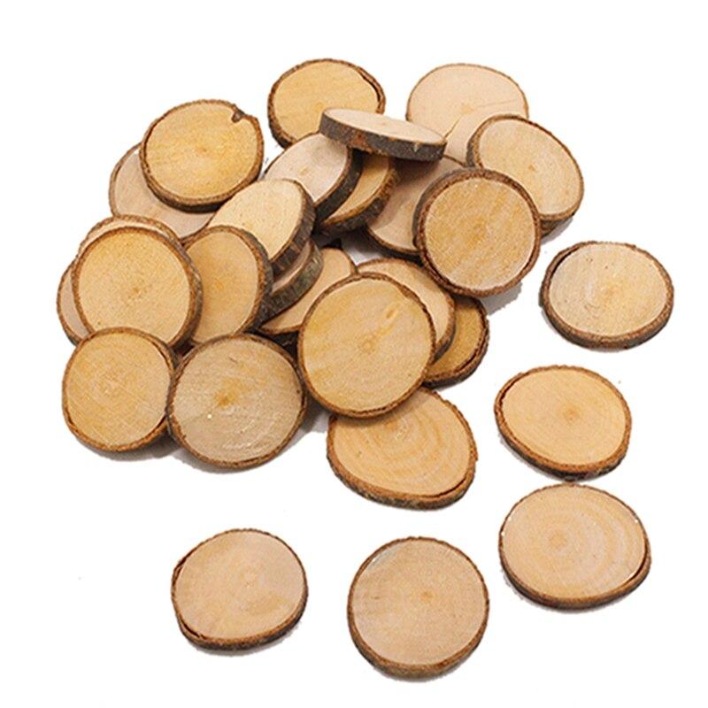 Круглый Деревянный кусок 3,5 см DIY расписной Оригинальный Деревянный кусок полировки деревянного ремесла украшения дома стены фотографии