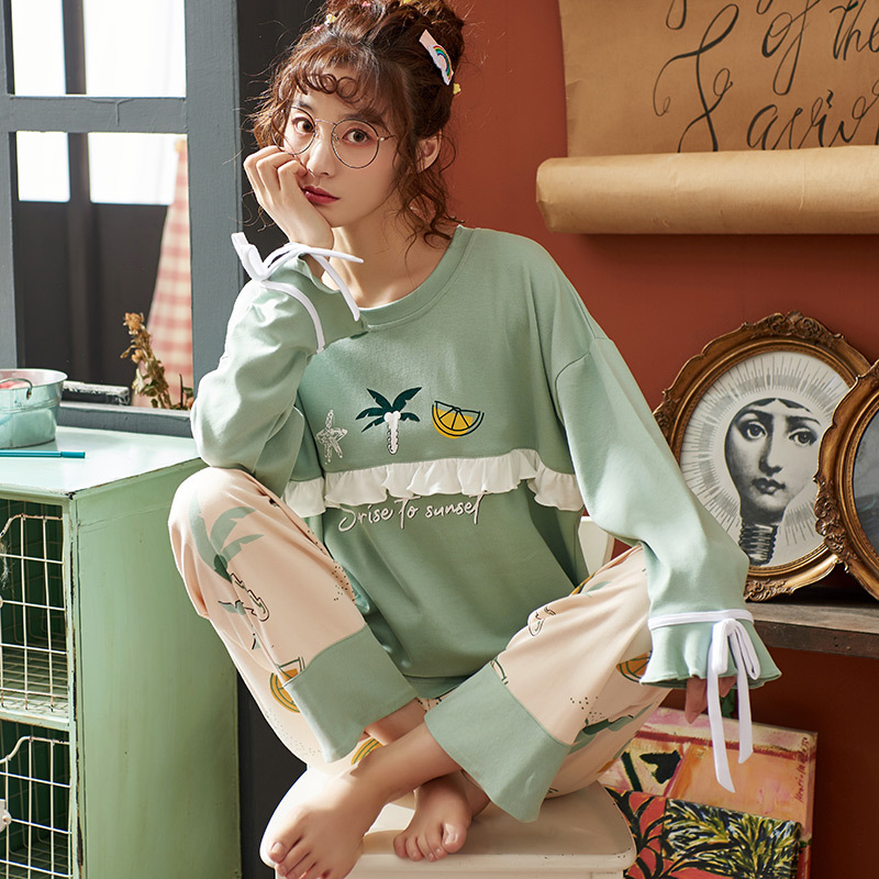 BZEL Lovely Sleepwear Sets Large Size Pajamas Ladies Casual Homewear Cosy Cotton Pijama Pyjama Sexy Night Wear Underwear M-XXXXL