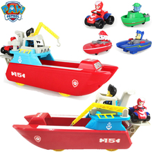 Paw Patrol Dog toys Marine Rescue Boat Puppy Simulation Patrol Play Action Anime Figure Patrulla Canina Juguetes Toy Of Children paw patrol four generations of upgraded pvc material snow dog beads bevel off road small grams of deformable catapult toy childr