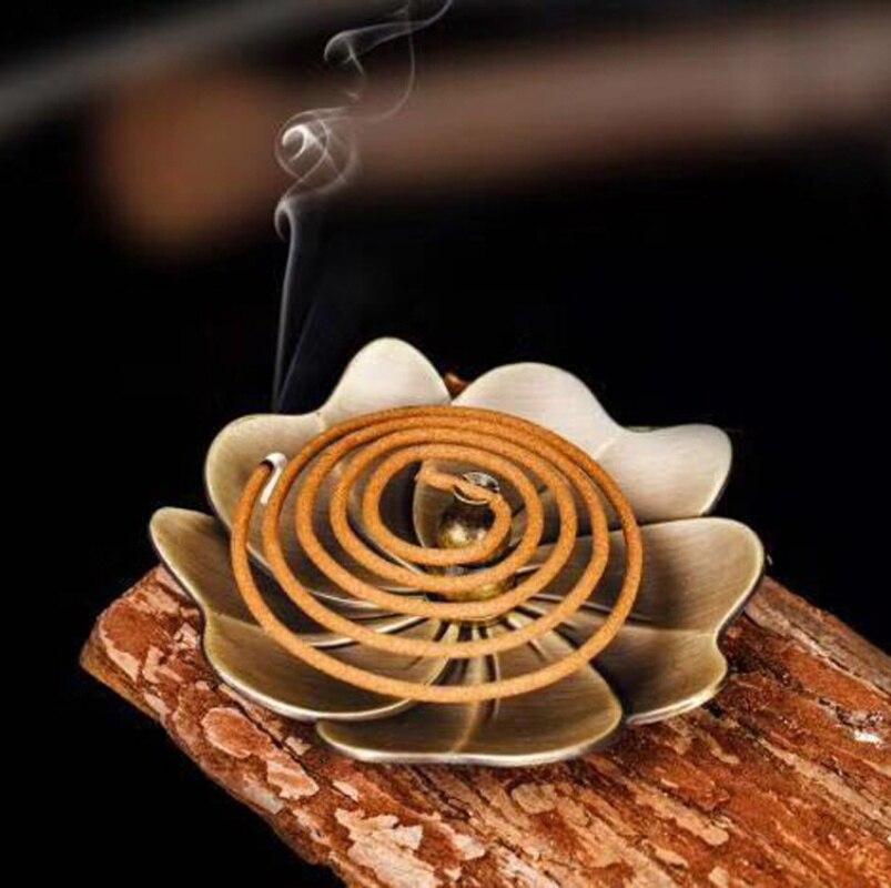 Цветок Форма Винтаж металлическая Арома лампа для Ладан сплава горелки аромат печи пластины из мультфильма «Холодное сердце» буддистские ...