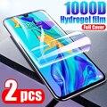 Гидрогелевая пленка с полным покрытием для Huawei P10 P20 P30 Pro Mate 10 20 30 40 P40 Pro Plus Lite E Nova 5T, защитная пленка для экрана, не стекло, 2 шт.