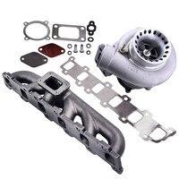 Turbo Turbo + Uitlaatspruitstuk Kit Voor Nissan Patrol 4.2L TD42 Gq Y60 Y61 T3 Flens Externe Tubine 7.5psi - 14.53 Psi