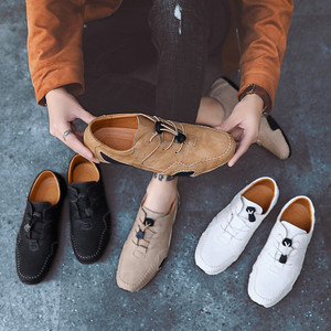 Image 4 - Spring mens fashion octopus sole non slip casual shoes personality soft leather driving shoes Doudou shoes driving shoes