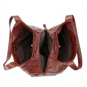 Image 5 - Винтажные кожаные роскошные сумки женские сумки дизайнерские сумки известный бренд женские сумки большой емкости сумки шопперы для женщин sac A Main
