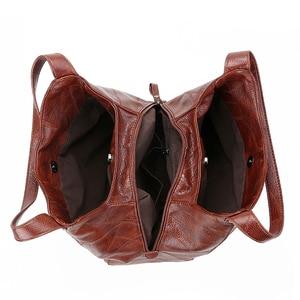 Image 5 - Vintage deri lüks çanta kadın çanta tasarımcısı çanta ünlü marka kadın çanta büyük kapasiteli Tote çanta kadınlar için kesesi ana