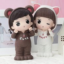 Coin Bank for Adults and Girls Creative Personalized and Cute Savings Bank Money Box Household