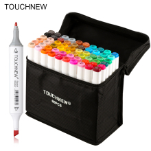 TOUCHNEW 30/40/60/80 Colors Art Markers Alcohol Based Markers Drawing Pen Set Manga Dual Headed Art Sketch Marker Design Pens multicolor 30 40 60 80 colors marker pen double headed nib student painting art school horticultural landscape design