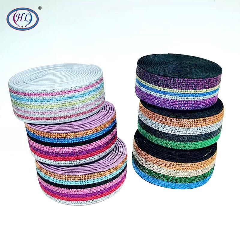 HL 25MM 2 Meter/10 Meter Bunte Heißer Stanzen Elastische Bands DIY Gurtband Bekleidung Taschen Nähen Zubehör
