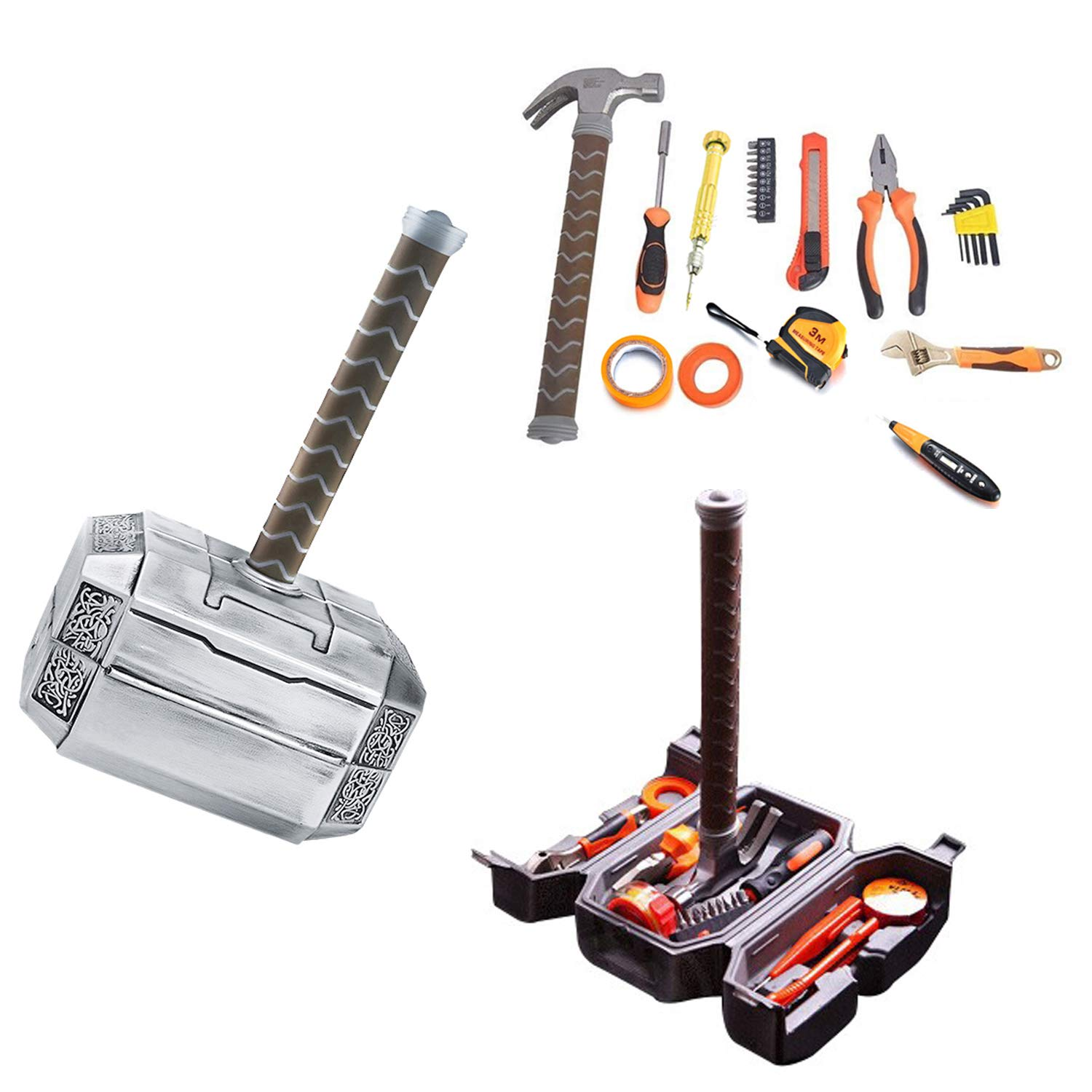 Thor Hammer Tool Set Thor Battle Hammer Tool Set,Durable, Long Lasting Chrome Finish Tools With Thor Hammer Case