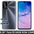 4 аппарат не привязан к оператору сотовой связи Note 9s 4G Оперативная память + 64G Встроенная память 5MP + 13MP Глобальный смартфон Face ID мобильный тел...