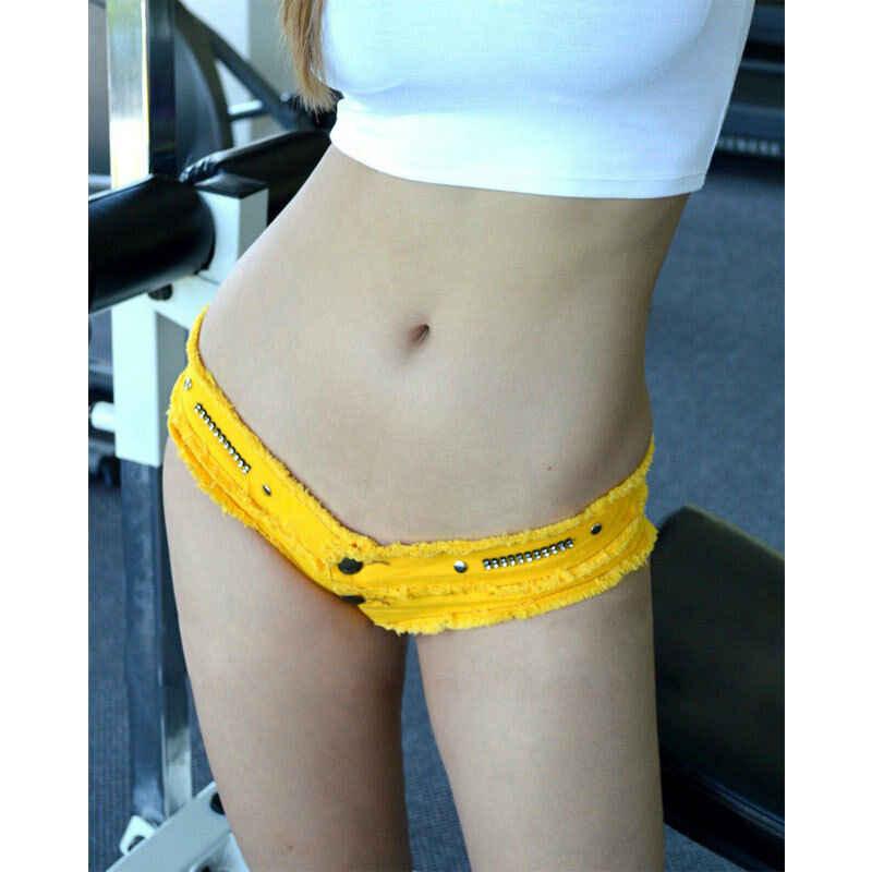 Kobiety panie lato Sexy Jeans Denim Lace-up krótkie dżinsy niskiej talii Skinny gorące spodenki nowy