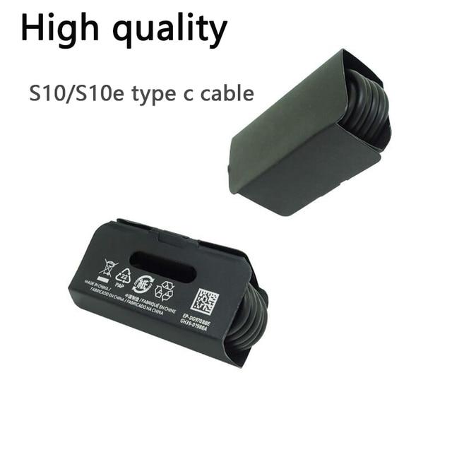 Nouveau câble haute qualité S10 S10e USB type c 1m câble de synchronisation de données de chargement rapide pour Samsun S10 S8 9 Note 7 8 S10 +