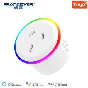 FrankEver Australia Smart Plug Wifi Smart Socket Colorful New Zealand AU Plug Smart Home 10A Tuya Smart Life Alexa Google Home