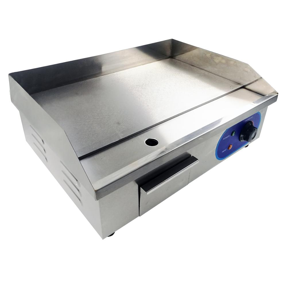 Commercial Electric Griddle Large Hotplate Flat Contact BBQ Grill Kitchen Countertop Teppanyaki Fryer Frying Pan Bacon Egg Fryer