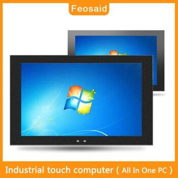 Feosaid 15.6 inch industrial touch computer All In One PC Wall-mounted computer 4G RAM 32G ssd wifi com core i3 I5 win7 win10 lenovo miix5 elite комбо таблетки 12 2 дюймов i3 6100u 4g памяти 128g win10 содержит клавиатуру стилус office черный шторм