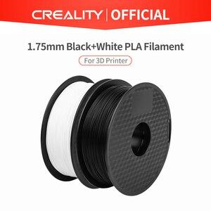 Image 1 - CREALITY 3D Принтер Нити Ender бренд белый/черный цвет нити 2 кг/лот высокое качество PLA 1,75 мм для 3D принтера печати