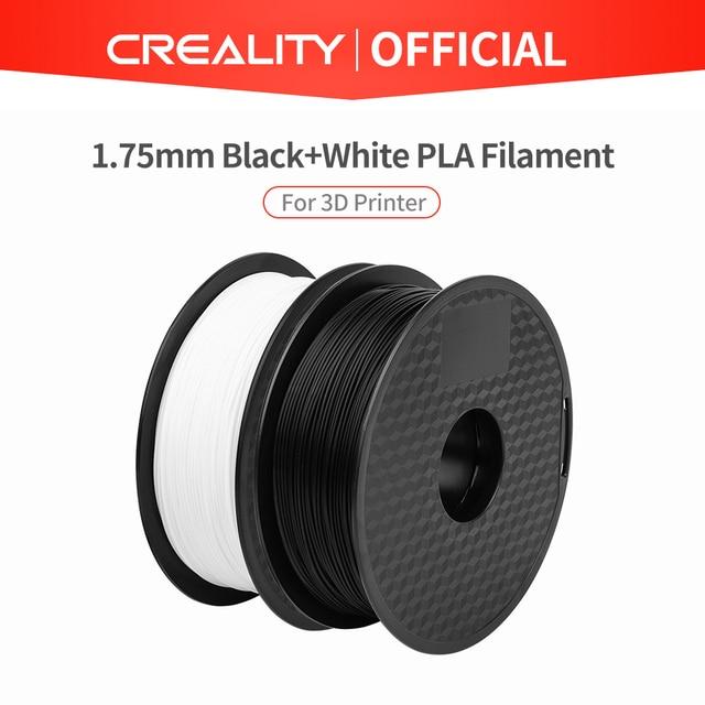CREALITY 3D Принтер Нити Ender бренд белый/черный цвет нити 2 кг/лот высокое качество PLA 1,75 мм для 3D принтера печати