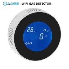 YAOSE PA-210W WiFi Gas Detector alarm Natural Combustible LPG gas leak Sensor For home smokehouse garden Security Alarm Sensor