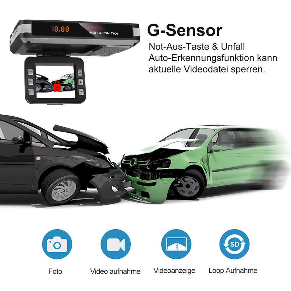 Coche Radar DVR Anti Radar Detector conducción cámara para grabación de vídeo Detección de flujo Dash Cam 9V ~ 24V con cargador de coche