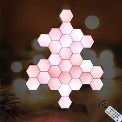 Современный Ночной светильник с квантовой лампой модульный шестиугольный цветной светильник светодиодный изменяющий Цвет DIY домашний дек...