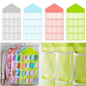 1Pc 16 Pockets Clear Over Door Hanging Bag Shoe Rack Hanger Storage Tidy Organizer Home Hang Storage Bag New