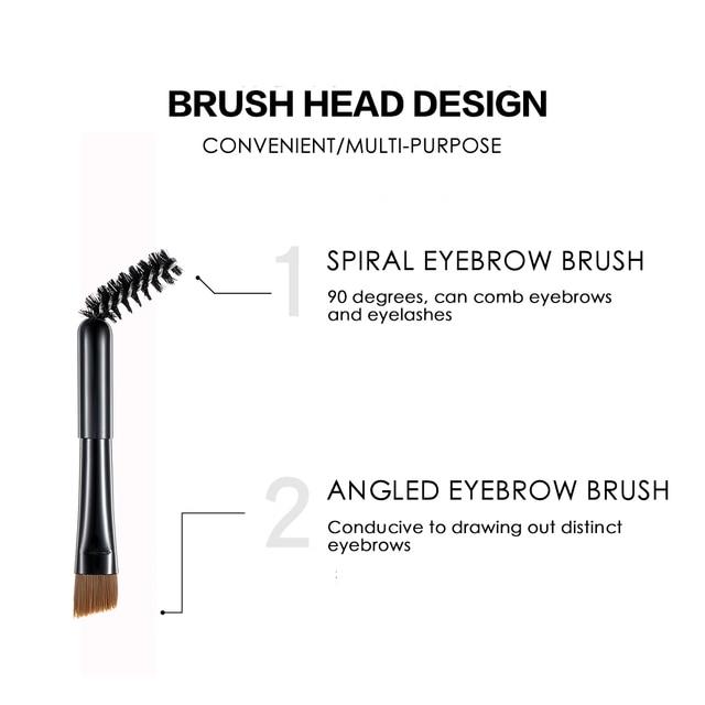 QIBEST Eyebrow Makeup Eyebrow Powder Gel Palette Eyebrows Enhancer With Brush Professional Cosmetics Eyebrow Shadows Soap Wax 5