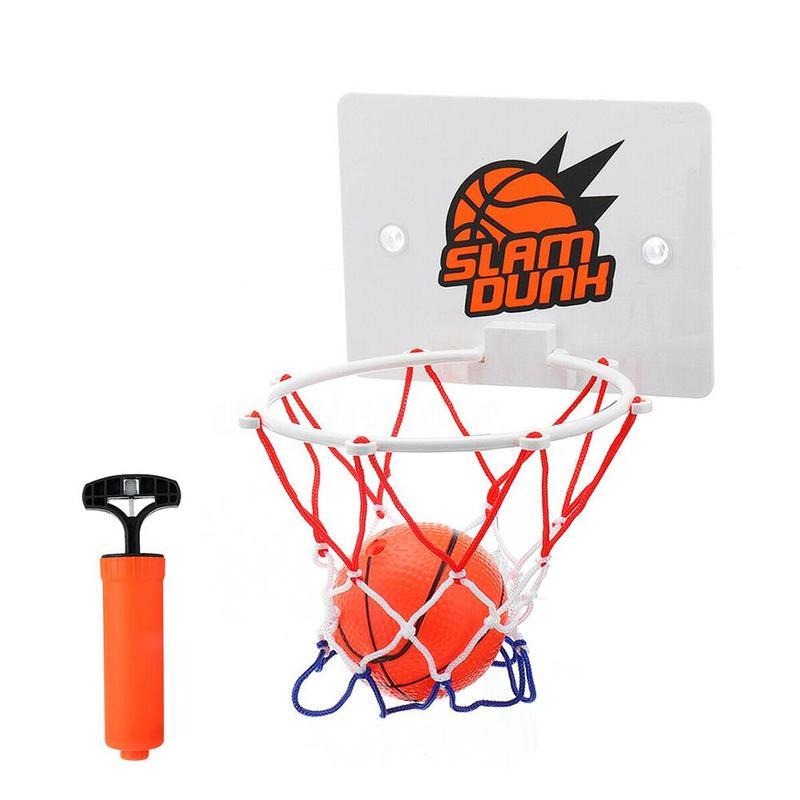3pcs/set Basketball Hoop Toys Training Suck Wall-mountedhanging Basketball Netball Hoop Basketball Outdoor Frame Sport Toys