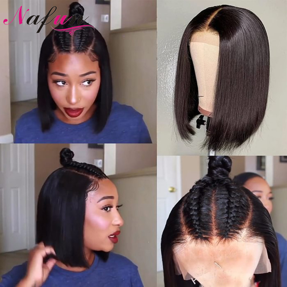 Straight Lace Front Wig 13x4 Bob Wig Human Hair Wigs For Women Bob Lace Front Wigs Transparent Lace Wigs Brazilian Remy Wigs