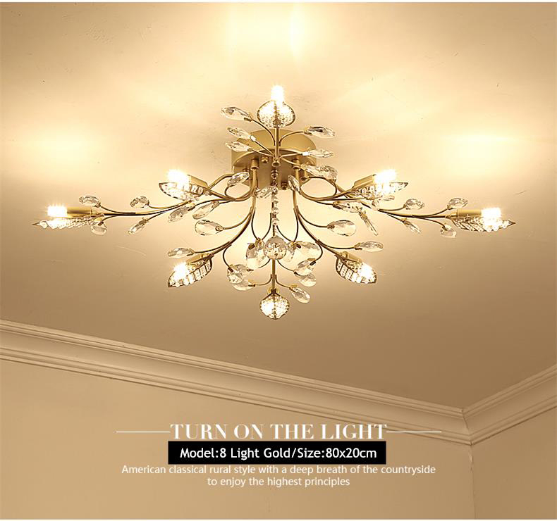 Hab95945411e14cfeb5a7e351e431a51cS TRAZOS New item fancy ceiling light LED Crystal ceiling lamp modern lamps for living room lights,AC110-240V DIY Crystal lighting