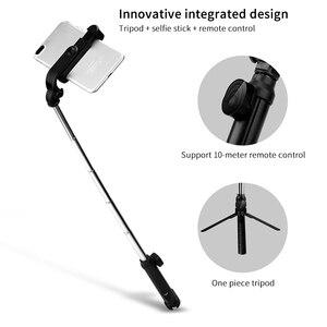 Image 2 - Palo de Selfie inalámbrico con Bluetooth, trípode extensible de mano, Mini trípode plegable con obturador remoto para iPhone y Android