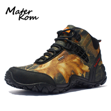 Professional Outdoor Hiking Shoes Men Leather Waterproof Trekking Mountain Boots