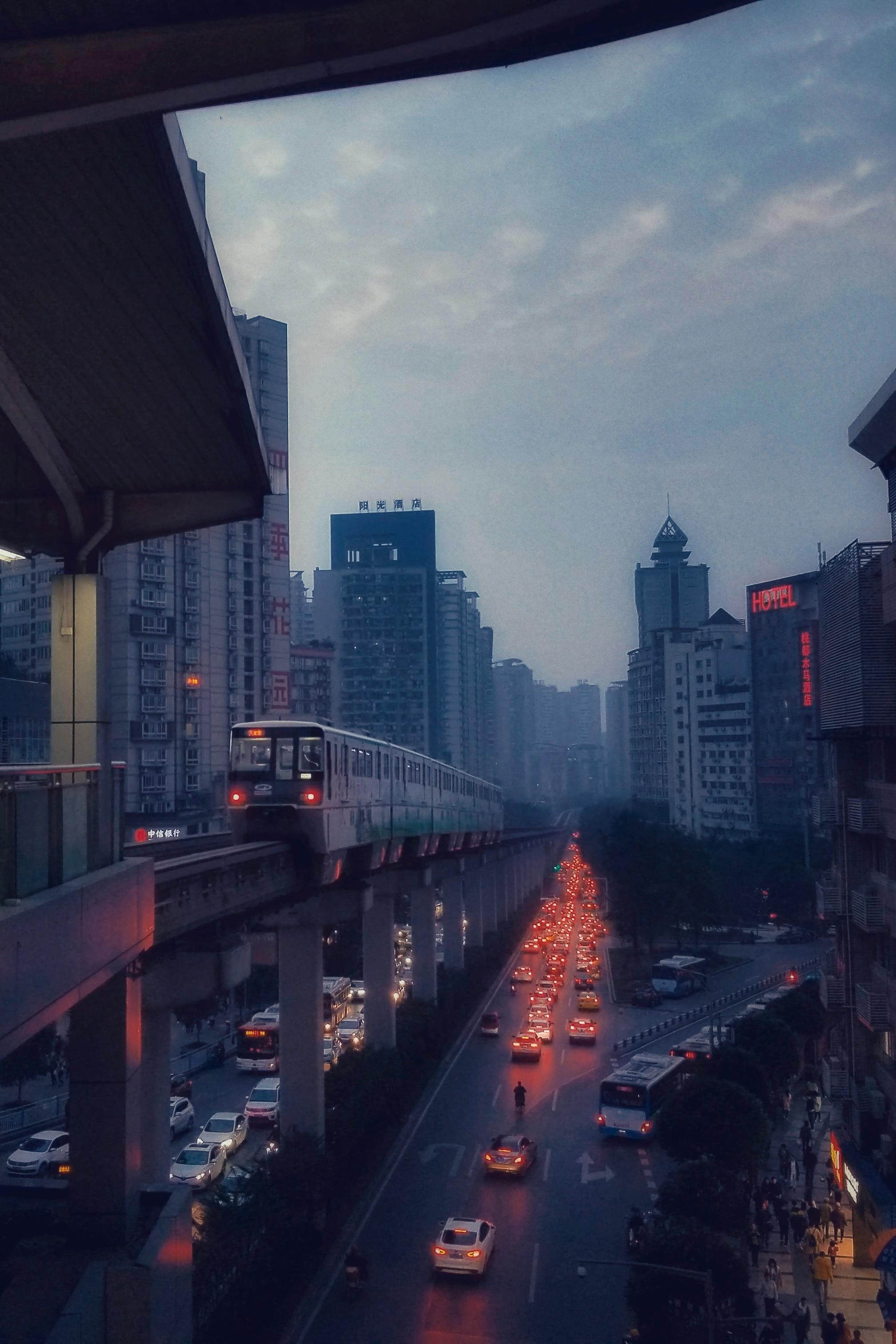 路过重庆二号线杨家坪轻轨站插图1