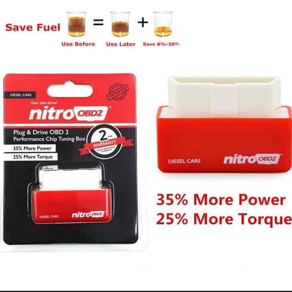Pilote NitroOBD2 Eco OBD2 pour voitures économie de carburant livraison directe Nitro OBD2 EcoOBD2 ECU puce Tuning Box Plug