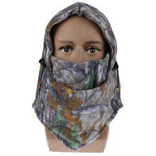 New Winter Face And Neck Warmer Fleece Camouflage Cap Motorcycle winter keep warm masks Riding Ski Thermal Hat Wind-proof Mask(China)