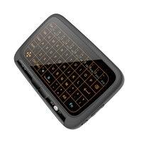 2.4 ghz mini backlight teclado sem fio h18 + usb touchpad tela cheia rato de ar do escritório do negócio teclado