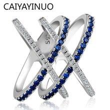 Jellystory модное кольцо 925 серебро ювелирные изделия с сапфировым
