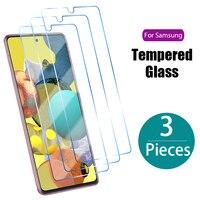 3 piezas de vidrio templado para Samsung J7 J5 J3 J1 2016 A3 A5 A7 2017 Protector de pantalla para Samsung A51 A52 A71 A72 A21S A31 A32 de vidrio