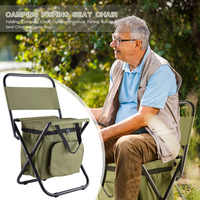 Silla plegable ultraligera para acampar, pesca, barbacoa, silla para senderismo, pesca, silla para pícnic, herramientas al aire libre, silla de playa de carga alta