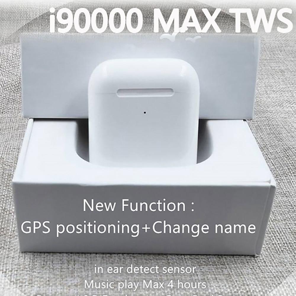 Original I90000 Max TWS Air 2 Change Name Location Bluetooth Headset In-ear Sensor PK I100000 I1000 I2000 I9000tws I500 I520TWS