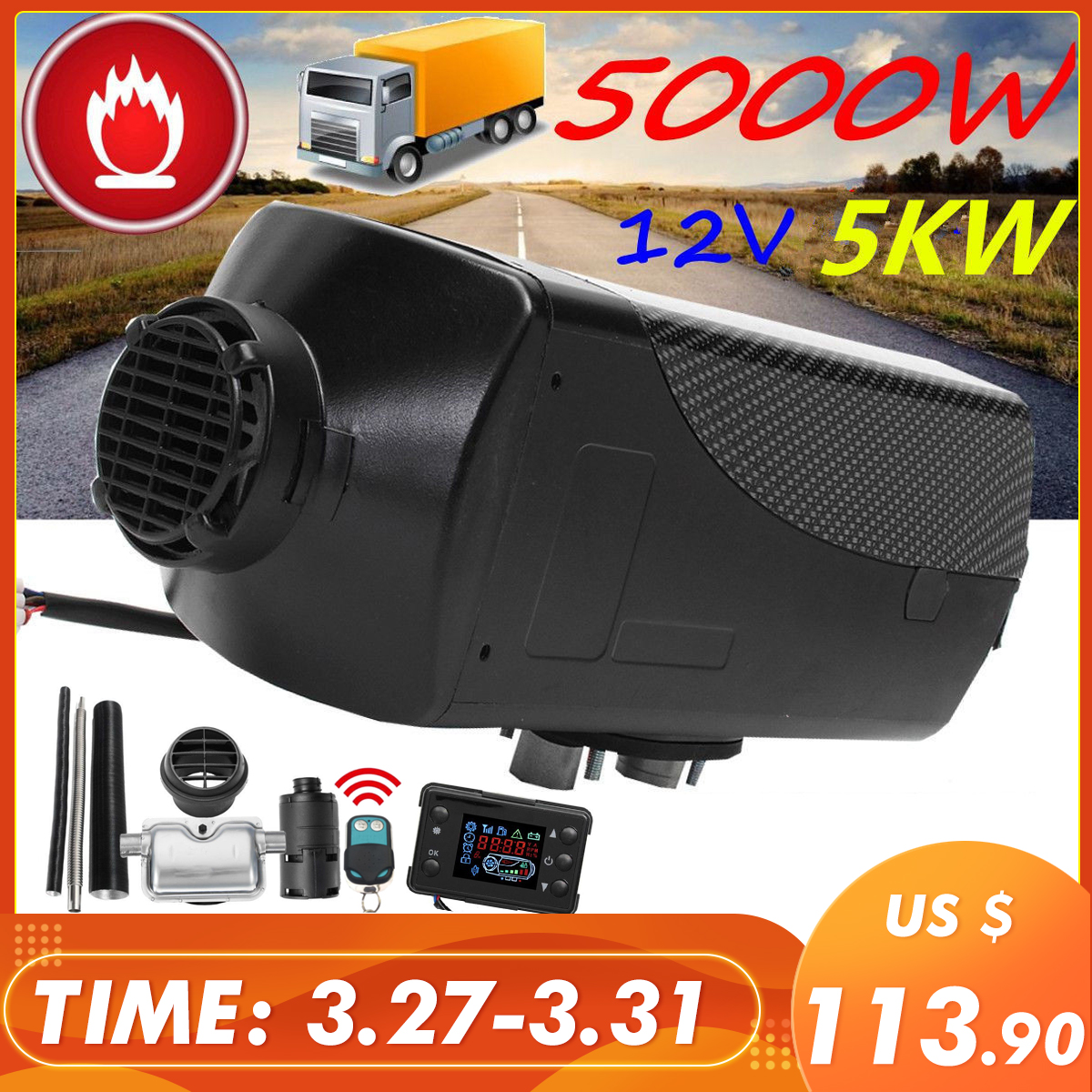 Car Heater 5KW 12V…