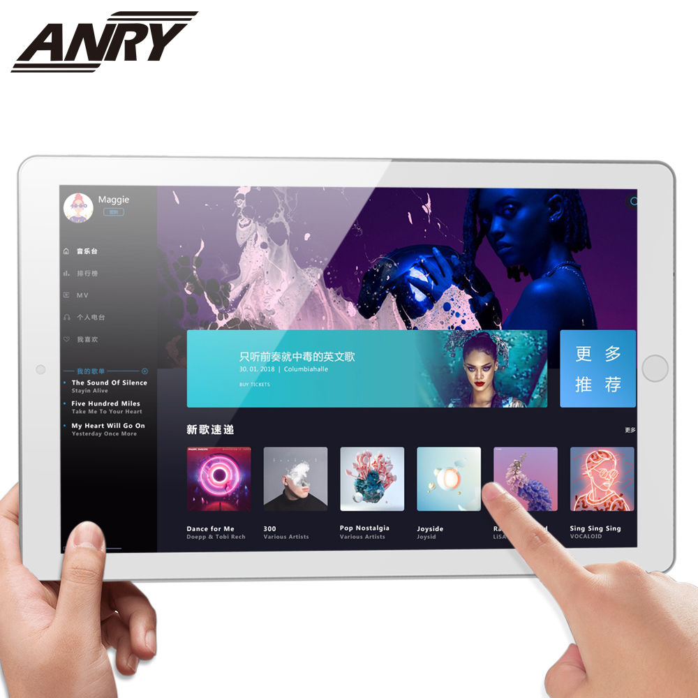 ANRY 3G Phone Call Android Tablet 10.1 Inch Wifi GPS Bluetooth Tablet Pc 1GB RAM 16GB ROM 1280x800 Touch Screen Full HD Display